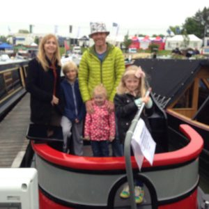 "S Runnells and his family on board ""Wandering Star""."